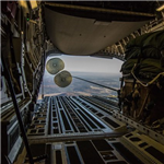 Strategic Airlift Capability Supports Exercise Dagger Resolve with Airdrop of Heavy Vehicles