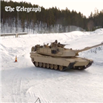 Video: US tanks get fast and furious drifting on ice during Norwegian exercise