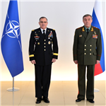 Supreme Allied Commander Europe, General Scaparrotti meets with Russian Chief of General Staff, General Gerasimov